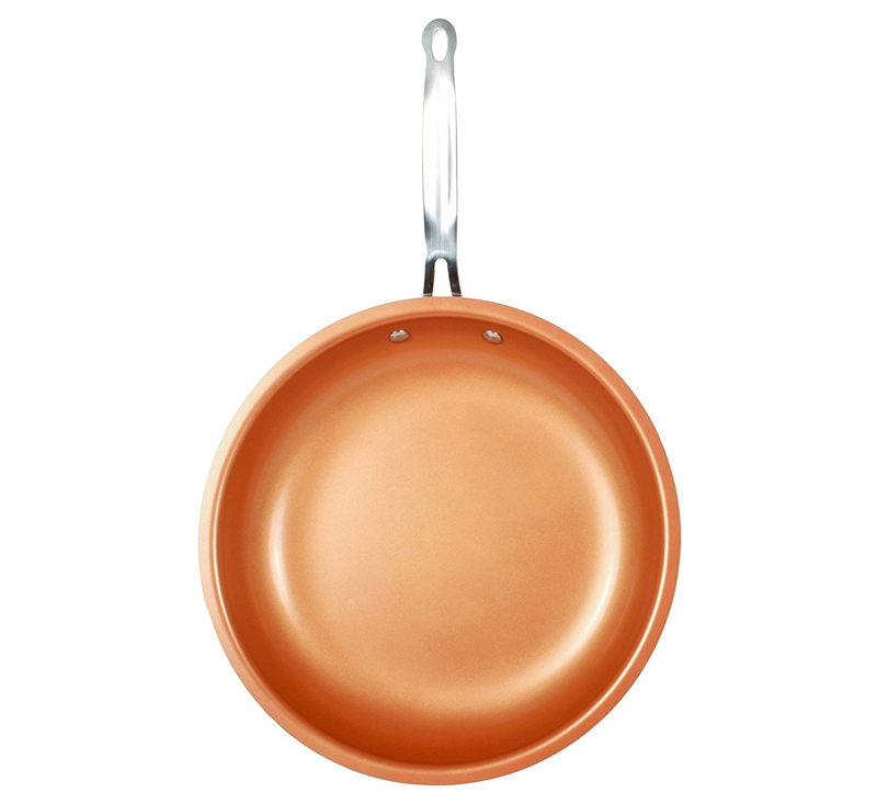 Non-stick Skillet Copper Red Pan Ceramic  Skillet Frying Pan Saucepan Oven & Dishwasher Safe 10 Inches Nonstick Skillet