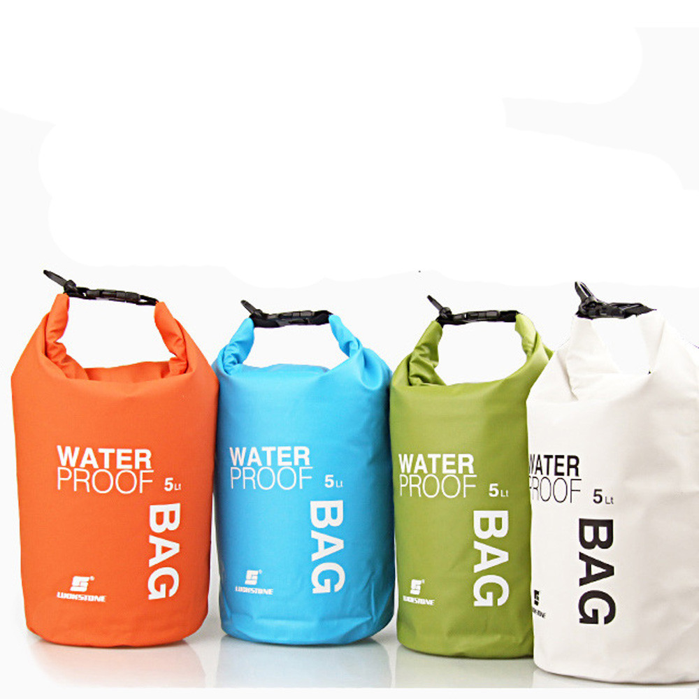 running bag water Portable 5L Waterproof Bag Storage Dry Bag for Canoe Kayak Rafting Mobile phone camera mochila plegable