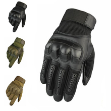 Military Army Combat Armed Gloves Full Finger Tactical Rubber Knuckle Protective Touch Screen Sport