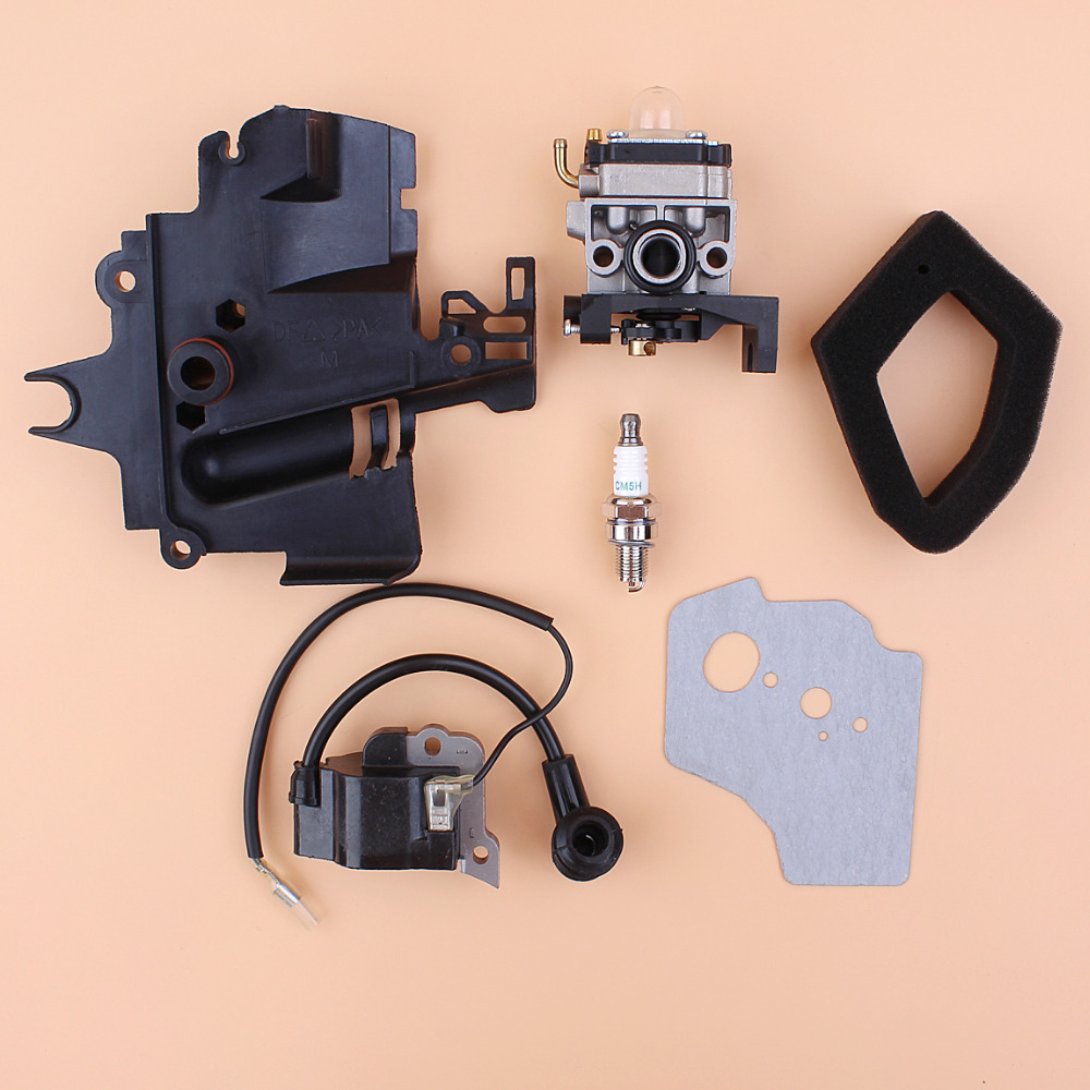 Carburetor Intake Manifold Ignition Coil Air Filter Kit For HONDA GX35 HHT35S UMK435 35CC Small Engine Motor Trimmer Brushcutter cnspeed air intake pipe kit for ford mustang 1989 1993 5 0l v8 cold air intake induction kits with 3 5 air filter yc100689