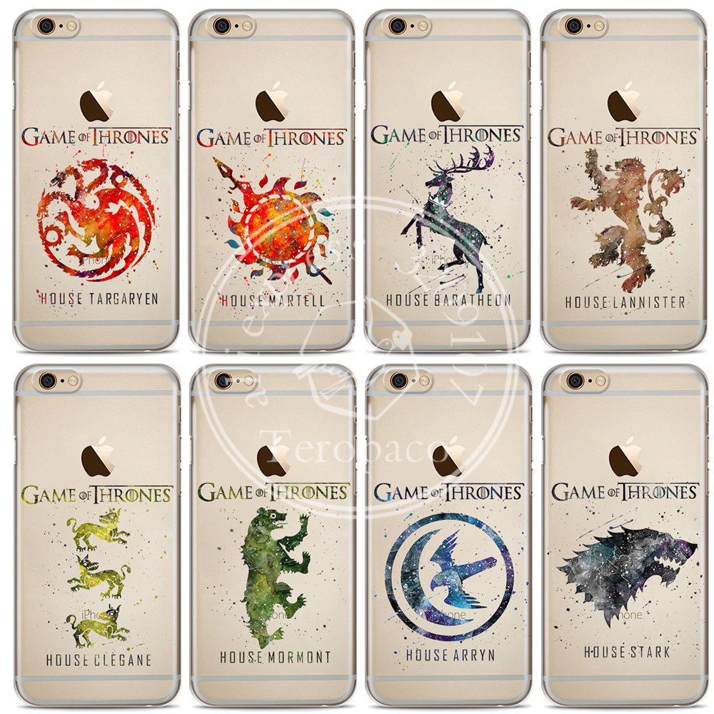 Game Thrones House Stark Art Design Clear Soft Silicone