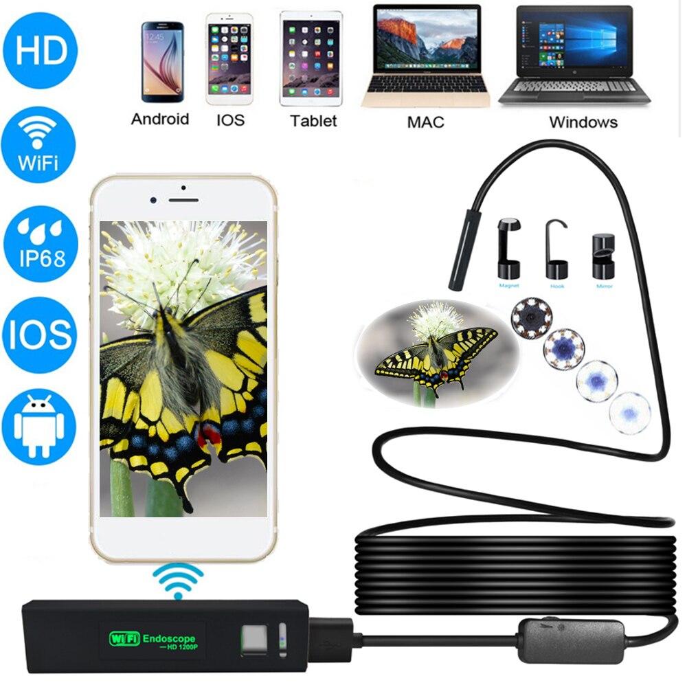 USB Endoscoop Mini Camera HD 1200 P IP68 Waterdichte 8 LED Endoscoop - Camera en foto