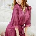 Новая Мода Сексуальное Женское Белье Женщин Пижамы Платье Ночной Рубашке Кружева Ночной Рубашке Халаты Платье Халат Гардеробная Женщины Сексуальный Аксессуар