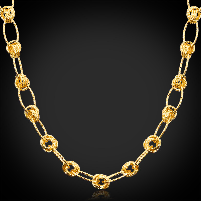 U7 Gold Plated Chain Designs For Men /Women Yellow Gold Plated ...