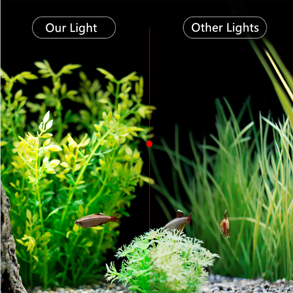 Super Bright LED Aquarium Lights LED Plants Grow Light 5W/10W/15W Aquatic Freshwater Lamps Waterproof Clip on Lamp For Fish Tank 14