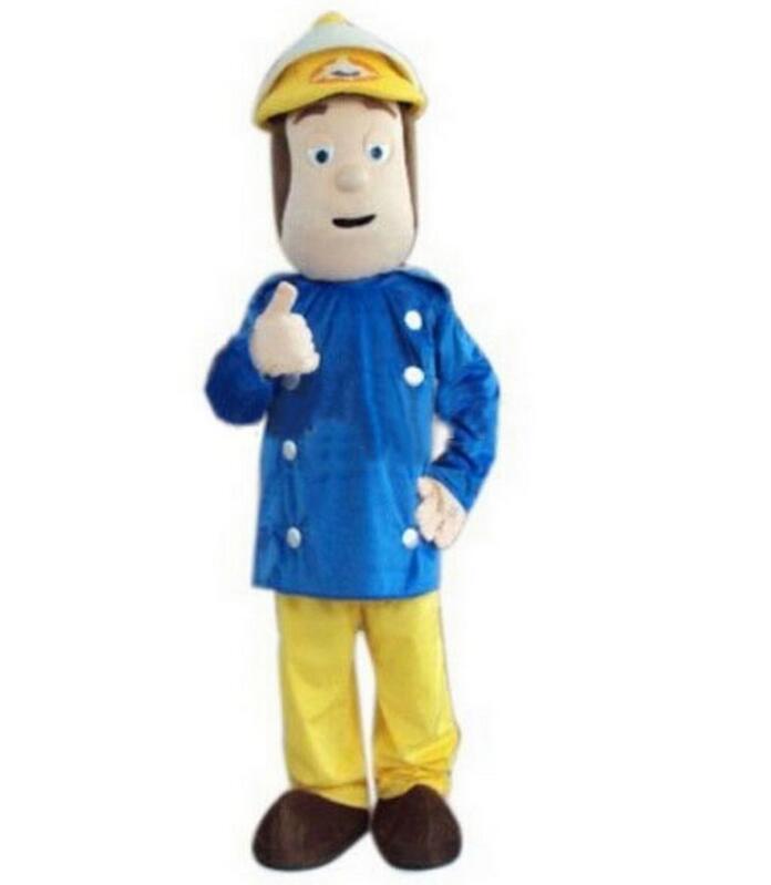 Fireman Sam Mascot costume Fancy Dress Adult size Free shipping