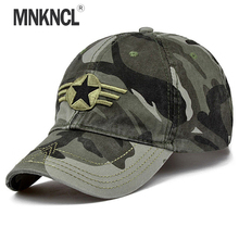 MNKNCL Newest Men Pentagram Baseball Cap Top Quality Army Camo Caps Hunting Fishing Hat Adjustable Camo