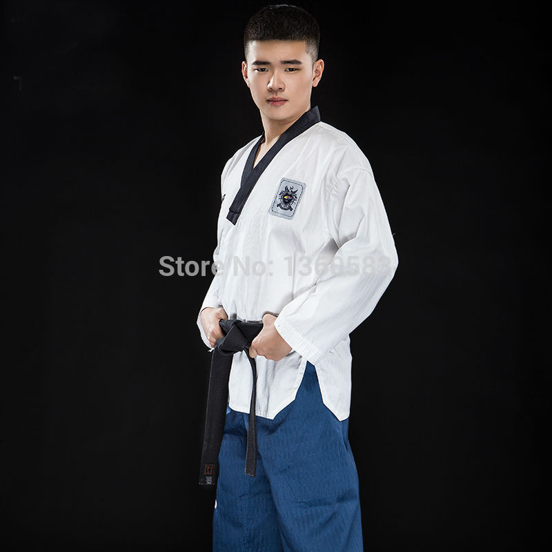 New High-end adult Taekwondo dobok cotten and bamboo fiber TKD suits men women ITF WTF Taekwondo uniforms multicolor clothes цены онлайн