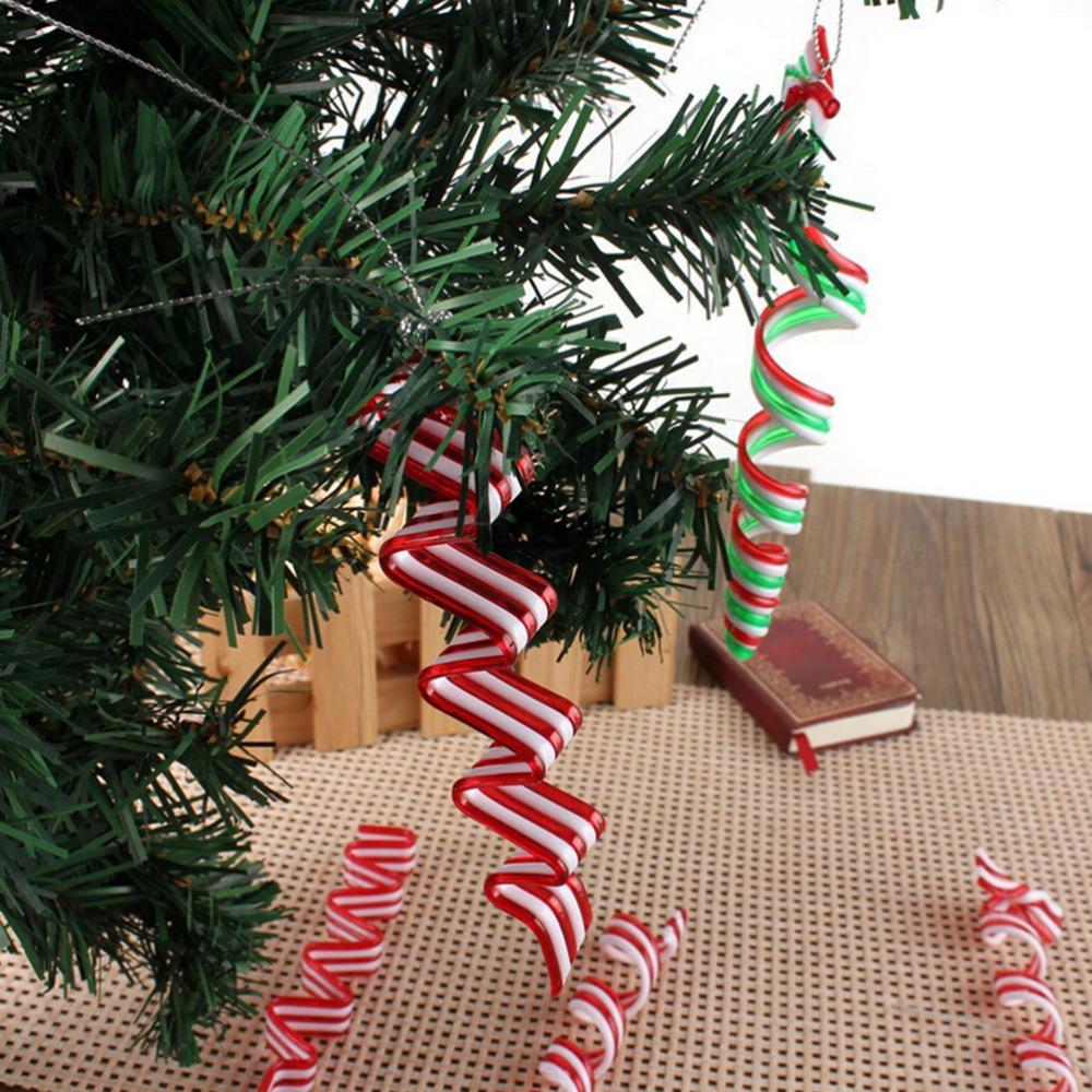 unidsset espiral forma ao nuevo rbol de navidad decoracin de fiesta de bodas en casa colgando adornos del rbol colgantes