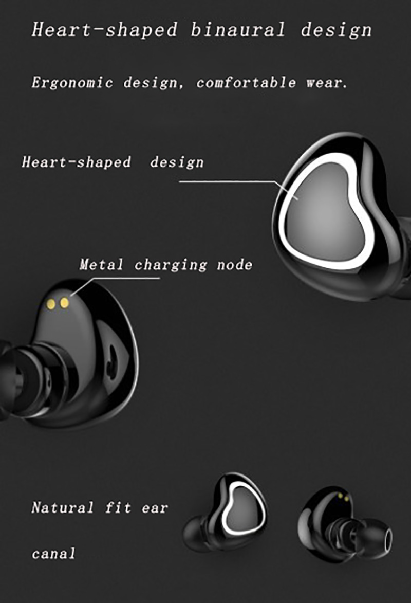 Bilateral inteligente bluetooth 5.0 fones de ouvido