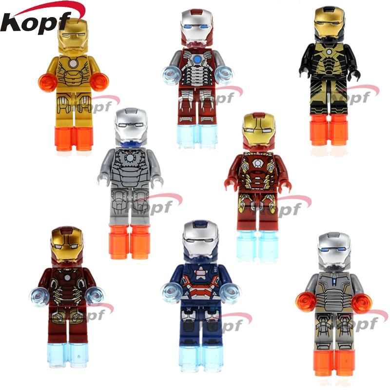 Single Sale Super Heroes Iron Patriot Ironman Mark 21 5 41 2 45 40 43 Bricks Model Building Blocks Children Gift Toys XH 027-034 аккумулятор patriot 12v 1 5 ah bb gsr ni