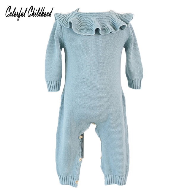 5709da2ea5e3 Thick Warm Infant Baby Rompers Winter Clothes Newborn Baby Boy Girl ...