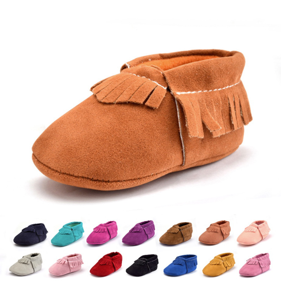 Infant Shoes Boy Girls Toddler Slippers Moccasins Baby Booties PU Suede Bebe First Step Walker For Baby New Born Shoes Soft Sole
