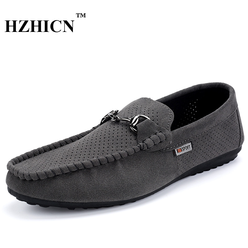 HZHICN Brand New Fashion Summer Spring Men Driving Shoes Loafers Leather Boat Shoes Breathable Male Casual Flats Loafers 2016 new style summer casual men shoes top brand fashion breathable flats nice leather soft shoes for men hot selling driving