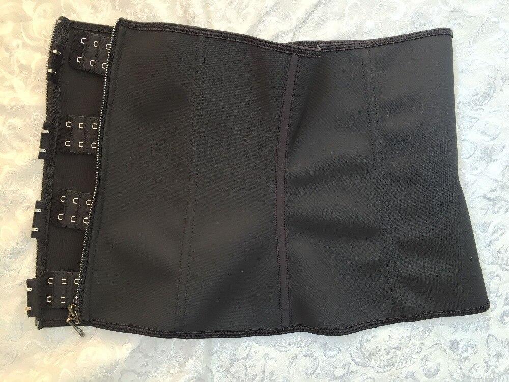 Meisou New Latex Waist Trainer Body Shaper Women Corset with Zipper Hot Shaper Cincher Corset Top Slimming Belt Black Plus Size (28)