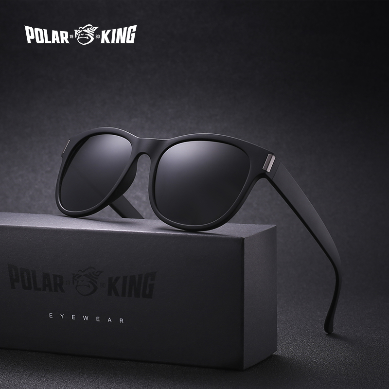 POLARKING Brand Men's Fashion Oval Polarized Sunglasses Oculos de sol Black Sun Glasses For Plastic Men Travel Driving Eyewear