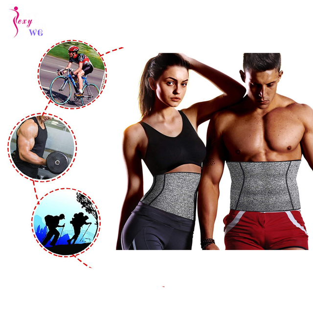 SEXYWG Gym Fitness Belt Men Women Waist Support Belt Sweat Corset Weight Loss Exercise Belts Brace Slimming Strap Waist Trainer 2
