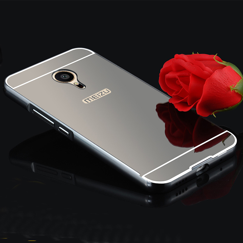 Hot Sale PC & Metal Hard Mirror Cover For Meizu MX5 Pro5 Pro6 M3S Metal M1 Note / M2 Note / M3 Note / M2 Mini Phone Cases