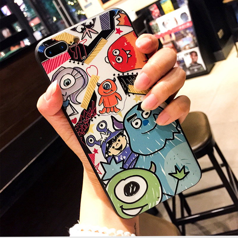 Applicable to iphone6 7 8 X XR XMAX mobile phone shell painted lucky cat TPU soft plastic anti fall protective cover in Half wrapped Cases from Cellphones Telecommunications