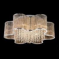 Luxo LEVOU Varas De Vidro Sala de estar Quarto lâmpada Do Teto Luz de Teto de Aço Inoxidável placa Superior Cristais luz de Teto Do Lobby
