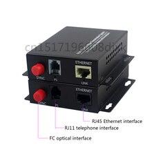 1CH telefono al convertitore di fibra ottica PCM Voice over Media Converter In Fibra Ottica a fibra 1ch 100M Ethernet