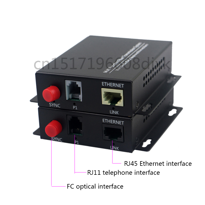 1CH Telephone To Fiber Optic Converter PCM Voice Over Fiber Optic Media Converter To Fiber 1ch 100M Ethernet
