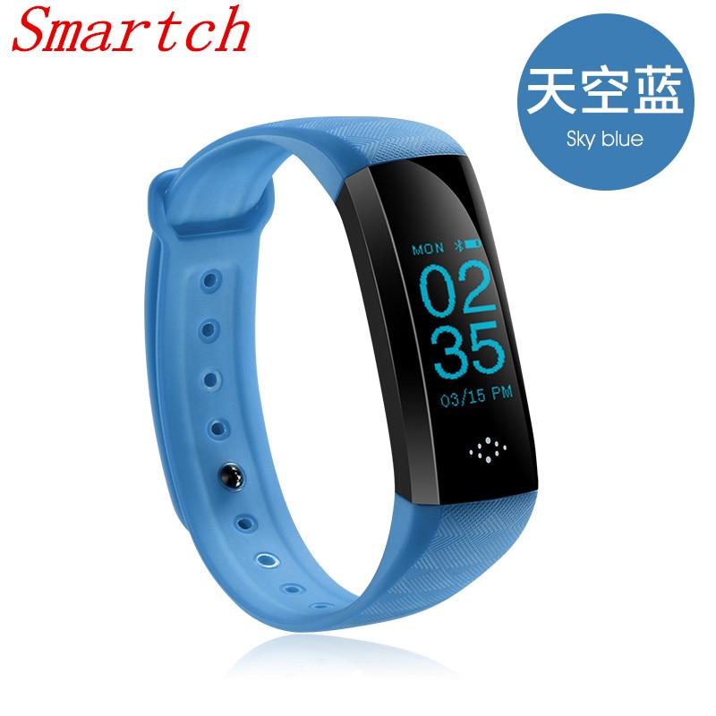 Smartch 0 86 inch M2S Smart Bracelet Bluetooth 4 0 Smart Band Heart Rate Monitor Blood