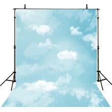 Bebê Recém-nascido Fotografia Backdrops Céu Nuvens de Fundo Para Estúdio de Fotografia de Fundo Para A Fotografia Crianças Foto Achtergrond