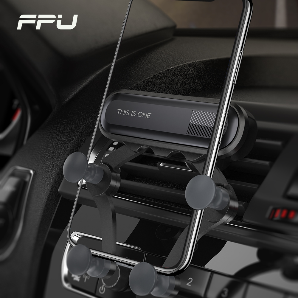 FPU Universal Car Phone Holder Gravity Car Air Vent Mount For IPhone XS Max XR X 8 Xiaomi Samsung Mobile Phone GPS Support Stand