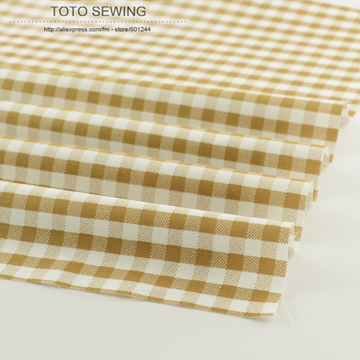 2015 new traditional brown white plaid 50cmx160cm/piece tela for bedding clothing tilda quliting patchwork tecidos