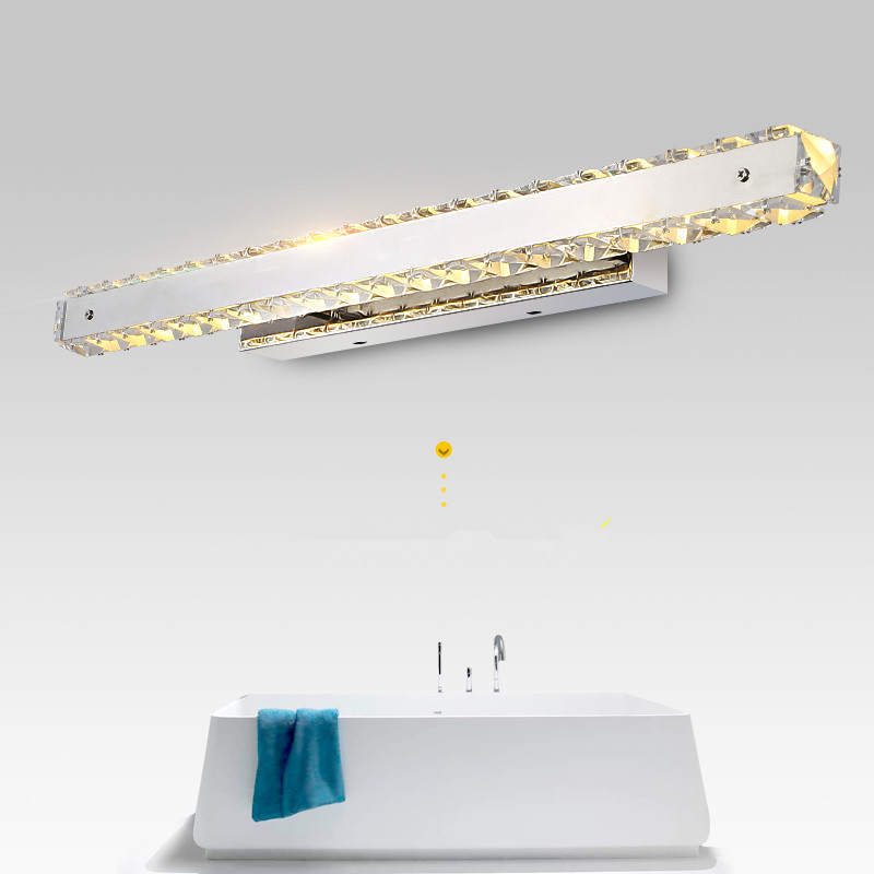 Modern Bathroom Crystal Led Mirror Light Fashion Designer