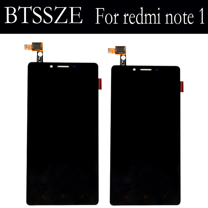 for xiaomi redmi note 1 high quality lcd display + touch screen glass panel Sensor TP assembly for xiaomi redmi note 1