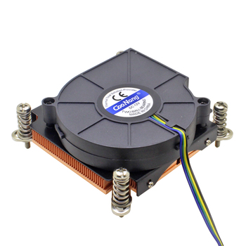 Server CPU Cooler Cooling Fan Copper Heatsink For Intel Xeon LGA 1155 1156 1150 1151 Workstation Industrial Computer Cooling image