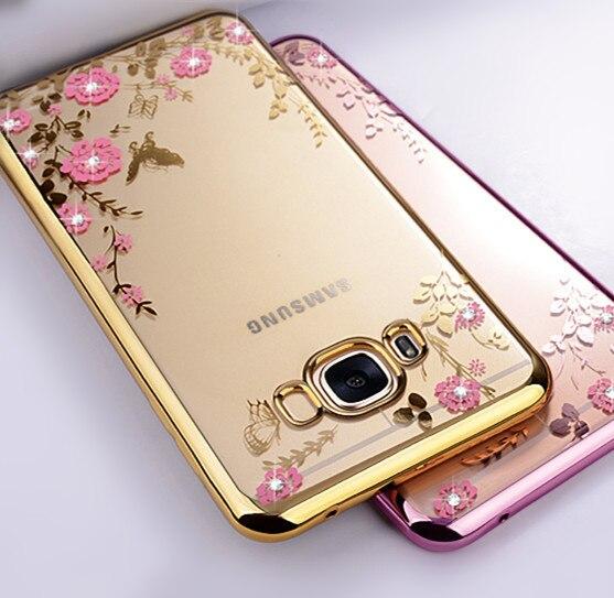 Galleria fotografica Diamond Silicone Cases for Samsung Galaxy S6 S7 edge S3 S4 S5 S8 Case Samsung Galaxy A3 A5 A7 2017 J1 J3 J2 J5 Prime 2016 Case