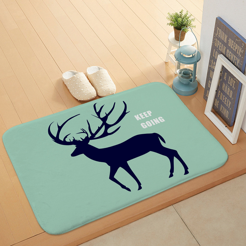 European Cartoon <font><b>Deer</b></font> Animal Bath <font><b>Mats</b></font> <font><b>Bathroom</b></font> Kitchen Living Room Door <font><b>Mat</b></font> Carpet image