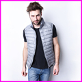 Men Winter Down Vest Ultra Light Down Sleeveless Jacket Mens Brand 90% white Duck Down Vest
