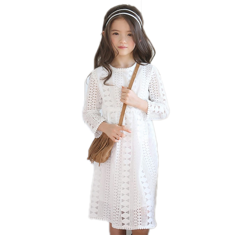 girls lace dress 2017 new spring long sleeve girls dresses solid lace summer dress girl toddler girl princess dress 4-13T acthink 2017 new girls formal solid lace dress shirt brand princess style long sleeve t shirts for girls children clothing mc029