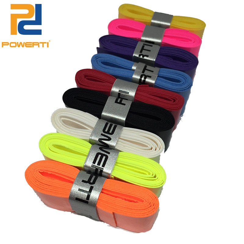 POWERTI 12pcs/pack 0.6mm Sweatband Absorbent Pro Tacky Overgrip Viscosity Grip Stickness Thin Grip for Tennis/Badminton Racket