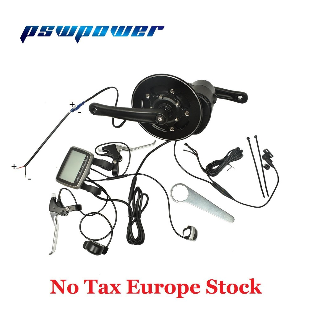Europe Or China Stock 36V 250W Or 350W 42T VLCD5 TSDZ2 Electric Bicycle Central Mid Motor With  Throttle E-brake Lever