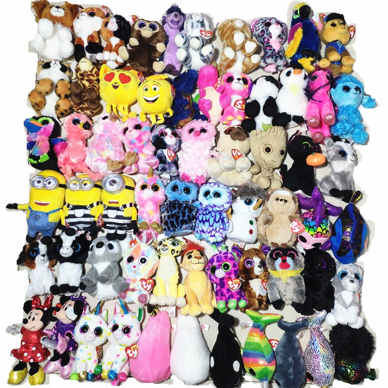 561950ad531 harmonie unicorn lindi cat saffire dragon whopper elephant TY BEANIE BOOS  15CM Plush Toys leggz gorilla franky bear slick fox