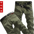 Winter straight cotton male casual pants trousers