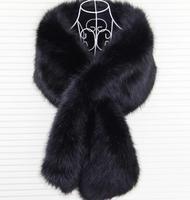 New Lady Blinger Super Big Faux Fox Fur Shawl High Quality Striped Patchwork Scarf Large Fur
