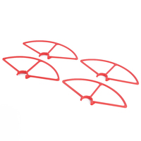 4pcs Set Red Plastic 4K Prop Blade Propeller Guard For YUNEEC Q500 Quadcopter