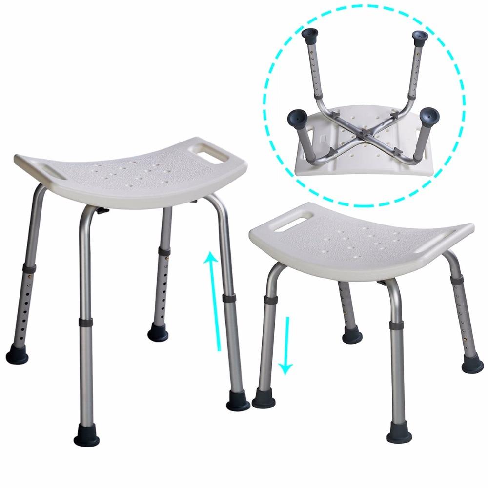 asiento para ducha Bano taburete Silla ajustable la altura 39-59cm BA6929