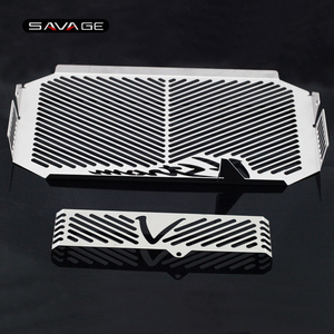 Image 4 - Radiator Grille Guard Cover Cap Protector For SUZUKI DL650 DL 650 V Strom VStrom 2004 2010 09 Oil Cooler Protection Covers Caps