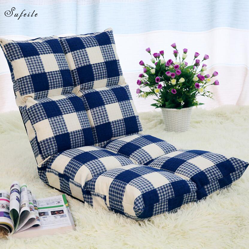 Fashionable deck chair leisure  Sofa Folding Single Small Sofa Bed Computer Chair Dormitory Piazza Japanese Style Backrest Chair beanbag sofa tatami chair single sofa bed dormitory windows and folding chairs