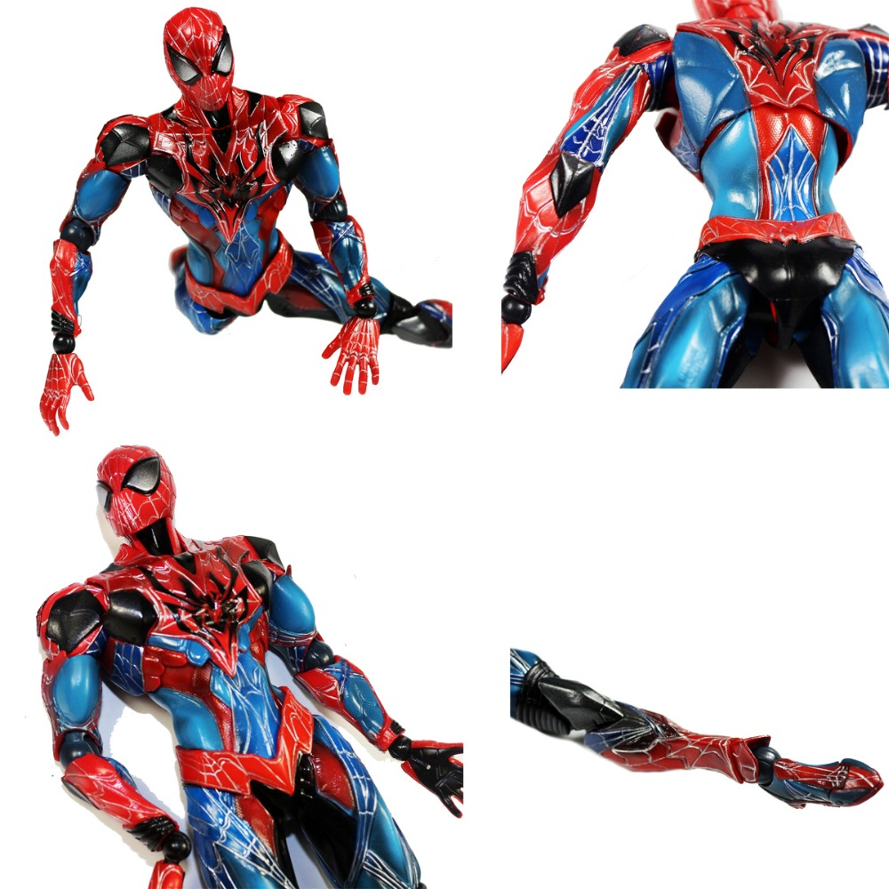 Spiderman Action Figure Play Arts Kai Spider Man 24cm/9.5 Anime Model Toys Superhero Playarts Spider-Man PAK001019 model fans spider man action figure venom spride collection model toys play arts kai amazing spiderman play arts venom