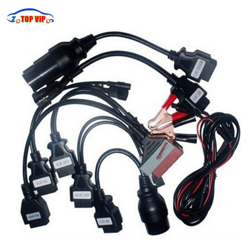 High Professional Full Set 8 Car Cable TCS Car Cables OBD2 OBDII Connector Cables diagnostic tool cables for tcs cdp pro discount price gold tcs cdp with bluetooth 2015 r1 newest tcs cdp pro full set 8 car cables auto diagnostic tool obd2 scanner