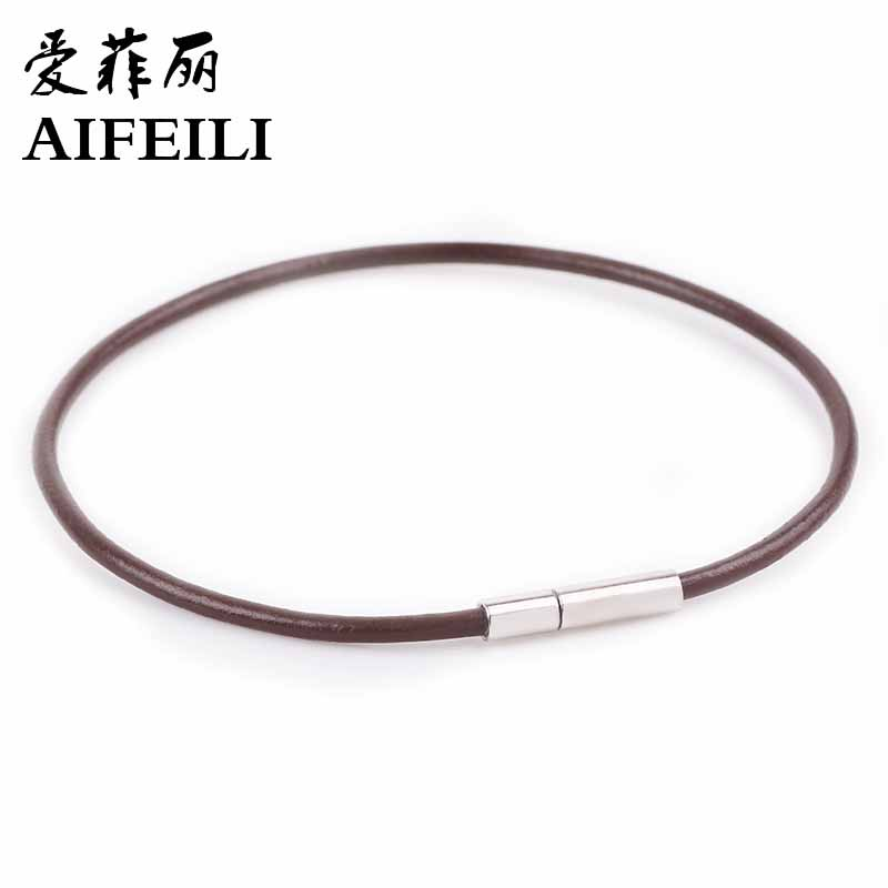 AIFEILI Fashion HOT Leather Original Bracelets & Bangles For Men and Women Black and Brown Braided Rope Fashion Man Jewelry