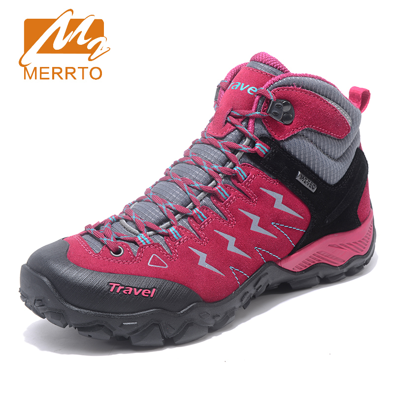 Merrto New Trend Autumn Winter mountain trekking hiking shoes women waterproof Breathable women Hunting sneakers  MT18685 merrto 2016 new brand women beach water aqua shoes upstream fishing wading shoes water breathable sneakers 18376 1